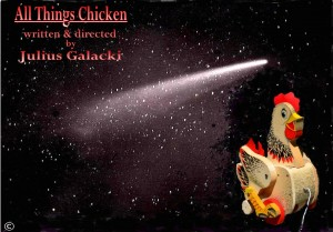 Chicken and comet, title and name, photoformat