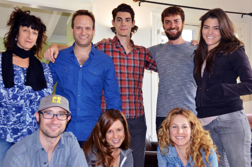 1st Full Read Through Cast:  L to R, Front to Back:  Matt Mercer, Miriam Korn, Chandra Lee Schwartz, Stephanie Silverman, Adam J. Smith, Max Singer, Josh Breslow, Karen Sours (missing T.W. Leshner and Justin Park)