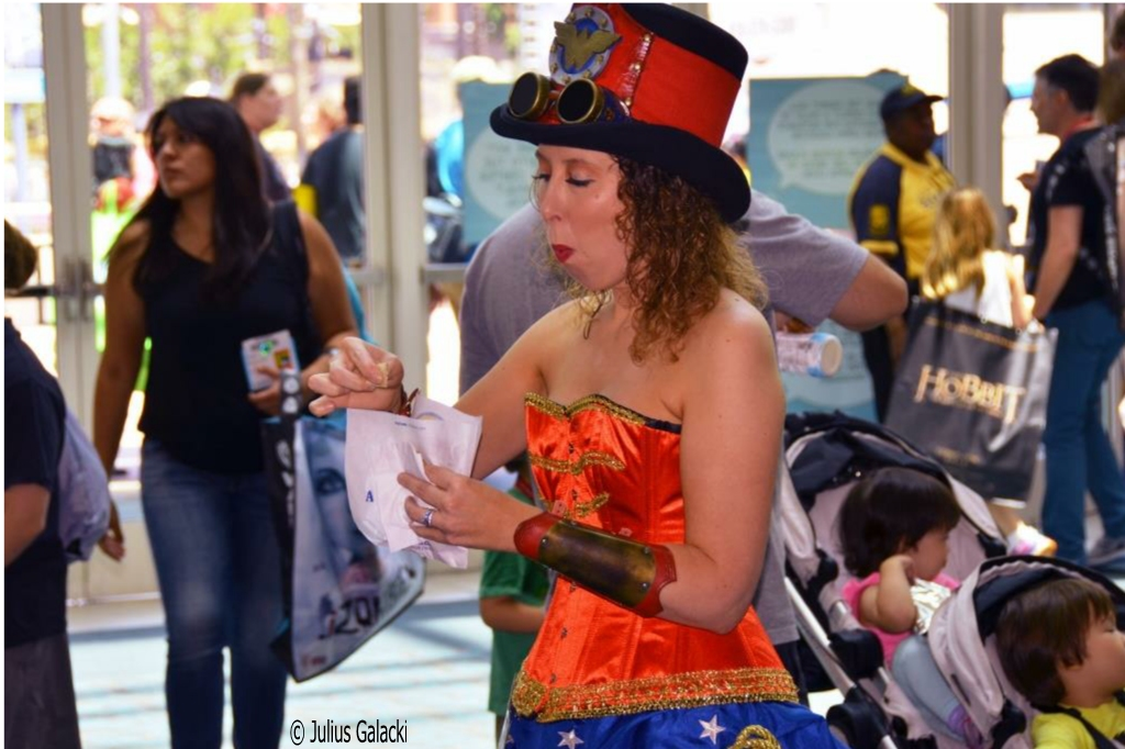 Steam Punk Lady (I Love To Take Candid Pictures Of Cosplayers - Yes Super Heroes Need To Eat, Etc. Too!)