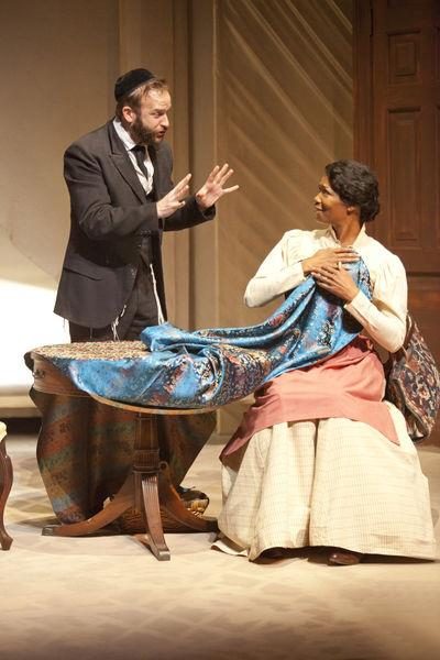 Adam J. Smith and Vanessa Williams in INTIMATE APPAREL at The Pasadena Playhouse.